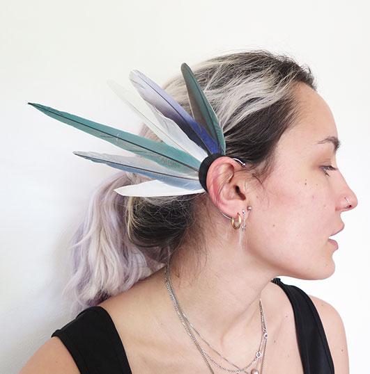 ear-cuff-plume-naturelle-bleu-fee