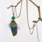collier-plume-naturelle-vert