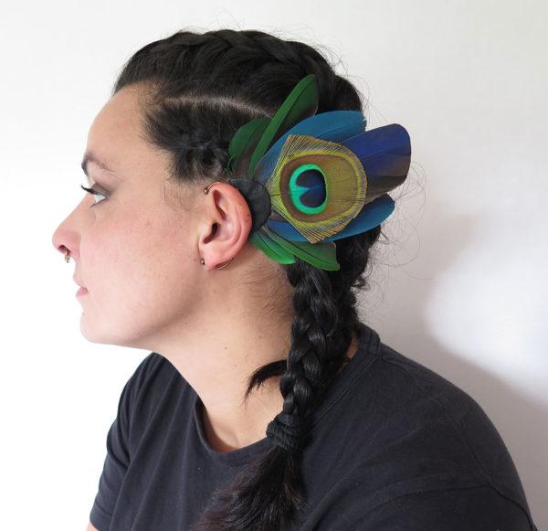 ear-cuff-plume-naturelle-paon-best-off